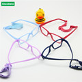 Boy Glasses Frame with Strap Size 43/16 One-piece No Screw Safe, Optical Children Glasses, Bendable Girls Flexible Eyeglasses
