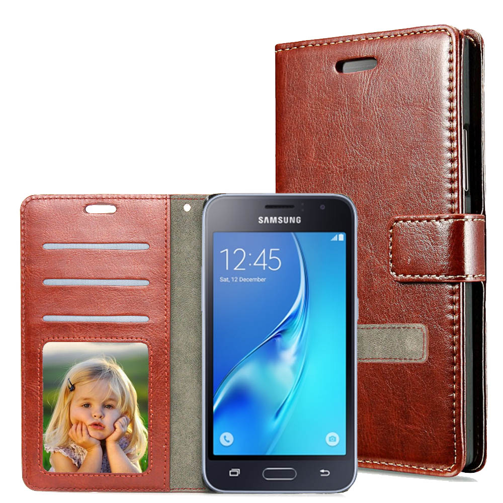 more photos a3132 2bcd7 For Samsung J2 Pro 2016 Case PU Leather Wallet Phone Cover Flip Photo Frame  For Samsung Galaxy J2 2016 Case J210