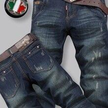 Мужская Мода брендовые джинсы Топ Качественный хлопок удобные джинсы Лучшая цена