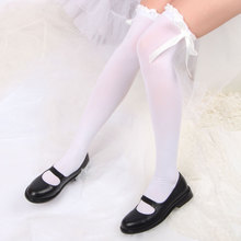 Fashion Women High Over The Knee Thigh Stockings bowknot bow tie Lace Sexy Long