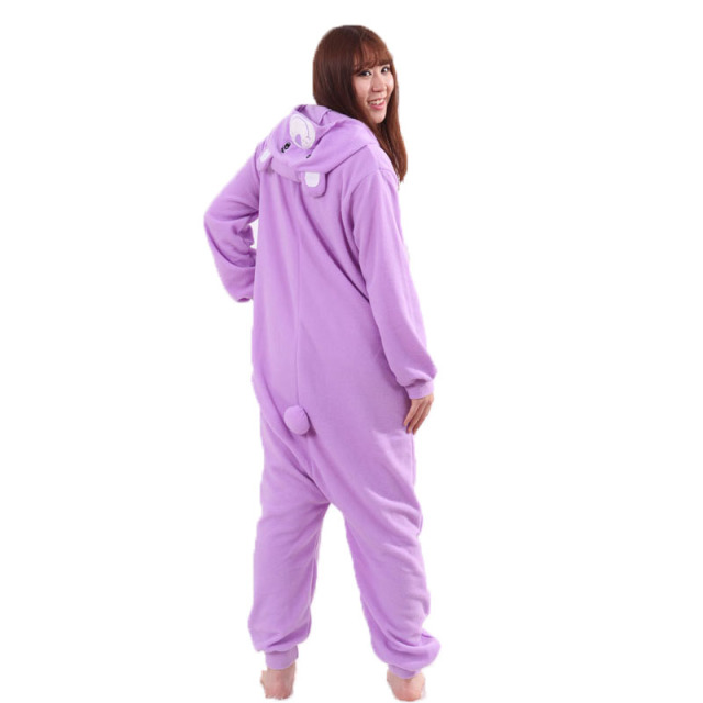 Purple Care Bears Onesie Kigurumi Cartoon Animal Pajamas Women Girl Adult Lovely Sleepwear Winter Long Sleeve Party Jumpsuit