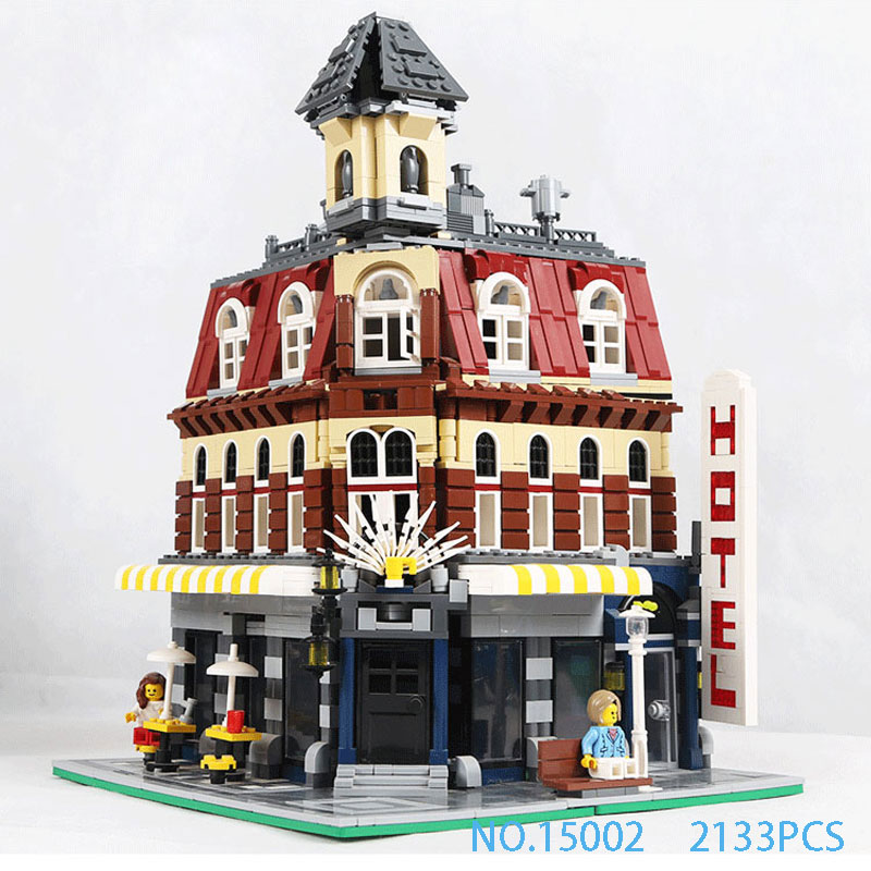 LEPIN 15002 2133Pcs Cafe Corner Model Building Kits Blocks Kid Toy Gift Compatible With 10182 friends for Children's gift lepin15003 2859pcs city series the town hall model building kits blocks kid toy gift compatible with 10224