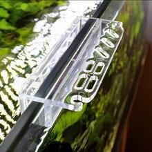 Acrylic Aquarium Scissor Tweezer Scraper Holder Fish Tank Cleaning Tool Kit Storage Rack Water Plant Aquarium Tool Accessories
