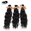 Mocha hair 3 or mix 3 pcs lot Virgin 7A Unprocessed Brazilian Hair Natural Wave Wholesale Natural Color Tangle Free