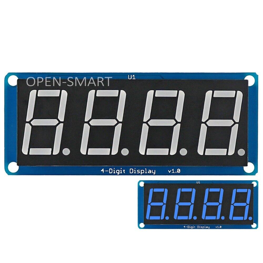 0.56 Blue LED 4-Digit Display Module 4 bits digital tube led display with Decimal Point for Arduino / RPi / AVR / ARM