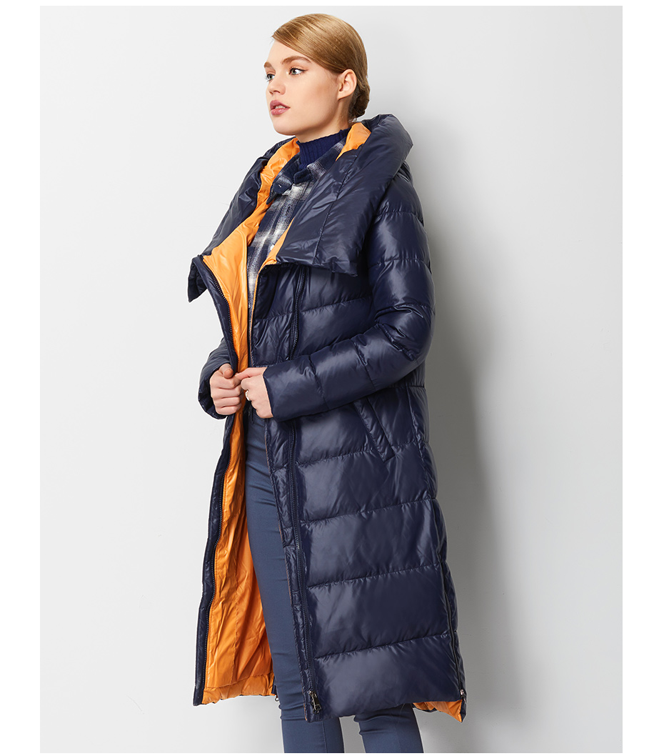 Fashionable Coat Jacket Women's Hooded Warm Parkas Bio Fluff Parka Coat High Quality Female New Winter Collection 20