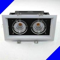 Double carré Dimmable LED Downlight COB 5 W 7 W 10 W 12 W 15 W 2x10 W Gradation CONDUIT de Lumière Spot LED Plafond Lampe Livraison Gratuite