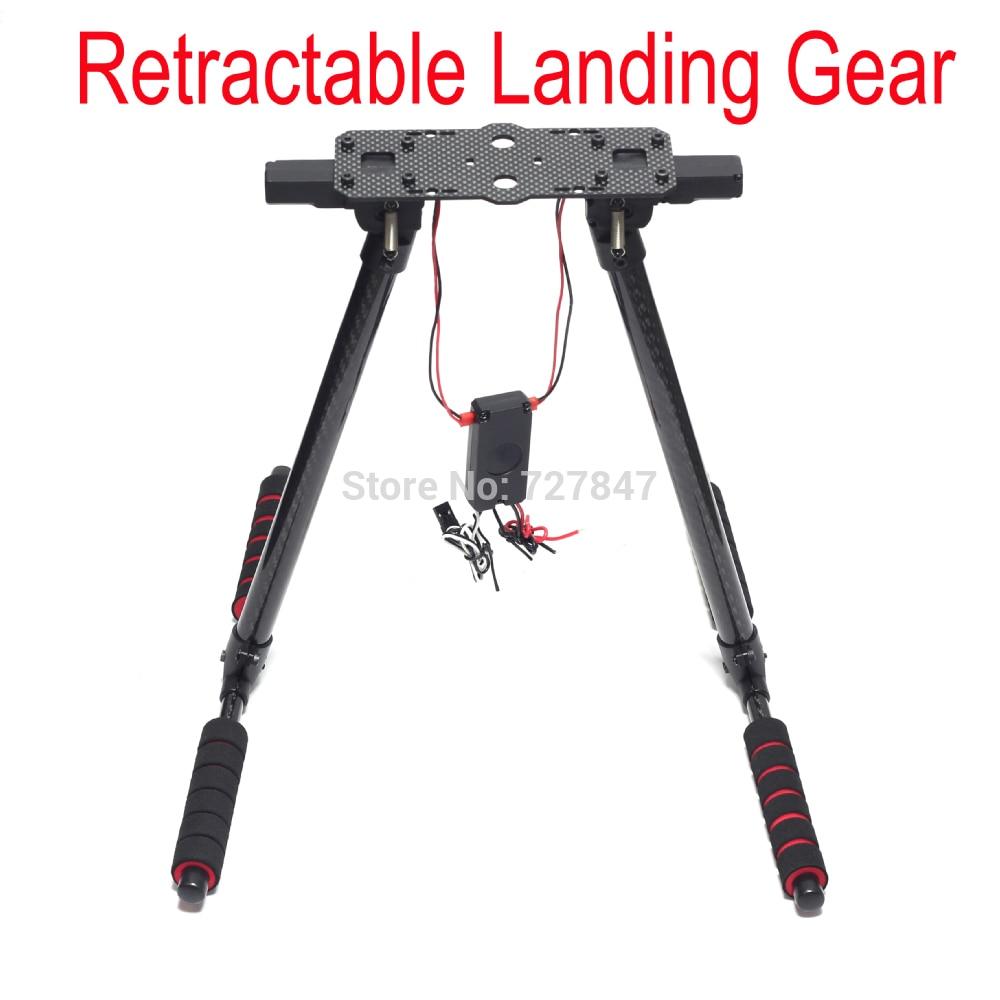 650 Quick Install Retractable Landing Gear Skid Carbon Fiber Best for S500 S550 X500 X550 Tarot650 HML 650 HML650 carbon fiber landing gear skid for f450 f550 s500