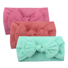 Baby Headband Solid Baby Girl Hair Accessories Bows Beauty Forever Hair Baby Girl Headbands Casual Kids Hairbands For Girls(China)