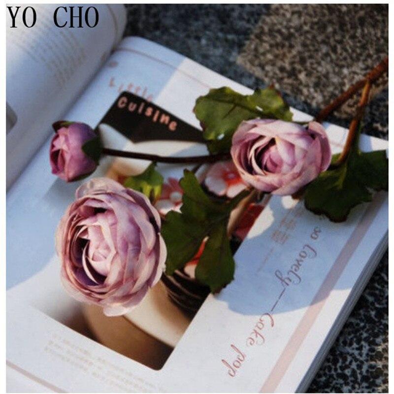 (6 pcs/lot) European Camellia high-end simulation silk tea rose flowers classical artificial wedding decoration flower