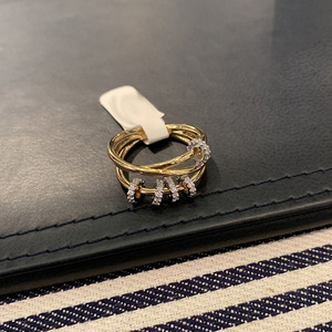 Image 2 - SLJELY Real 925 Sterling Silver Yellow Gold Color Triple Circles Finger Ring with Sliding Rings Pave Zircon Women Luxury Jewelry