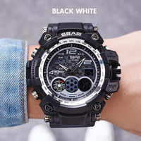 SBAO Fashion Casual Brands Men Watches Camouflage Sports Multi-functional Waterproof Men's Electronic Durable Watches zegarek
