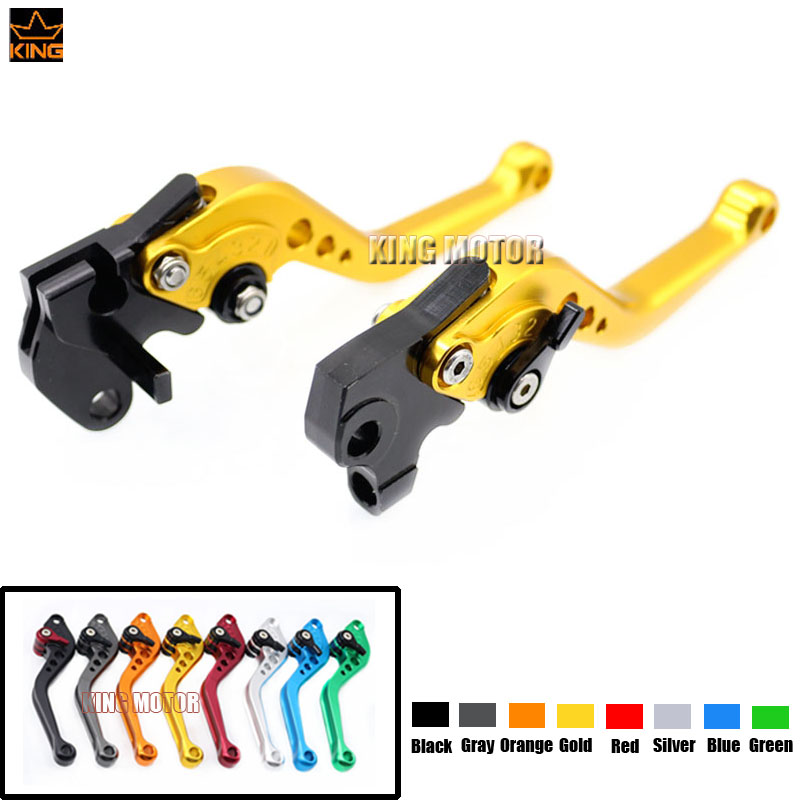 ФОТО Free shipping Motorcycle Accessories CNC Aluminum short Brake Clutch Levers Gold For YAMAHA YZF R125 2008-2011