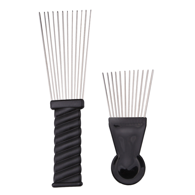2 Styles Stainless Steel Needle Hair Dye Coloring Streaked Comb Tint ...
