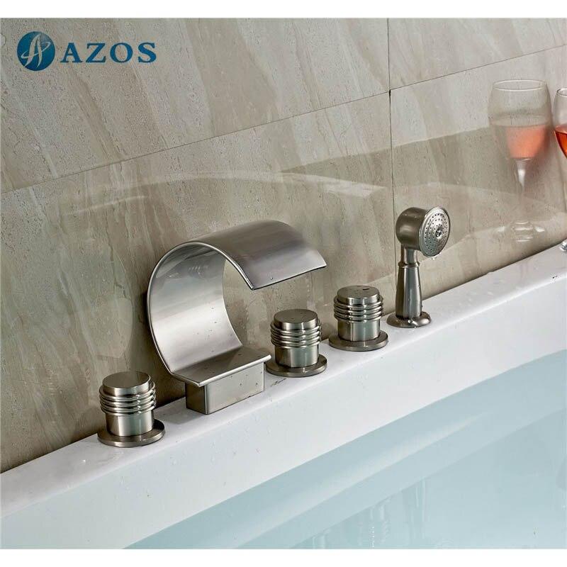 Bathtub Shower Faucets Nickel Brush Bathroom Suana 5pc Sets ...