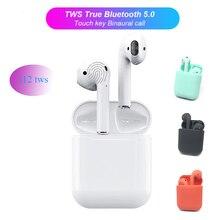 Original i12 TWS 1:1 Air pods sans fil Bluetooth 5.0 3D super stéréo basse Bluetooth musique casque pour iPhone Samsung Huawei