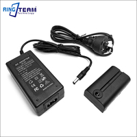 8V AC Power Adapter Plus NP F550 Dummy Battery Replace NP F970 F750 F570 For Viltrox