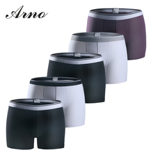 ARNO Men cotton Boxer 5pcs underwear Classic Fashion Comfortable soft mens