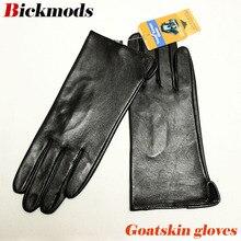 Skórzane rękawiczki z koziej skóry damskie cienkie ekrany dotykowe proste style bez podszewki 100% rękawice z owczej skóry outdoor driving rękawice kierowcy