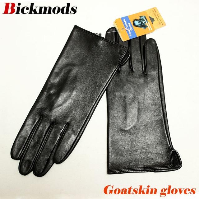 Кожаные перчатки goatskin, женские тонкие перчатки с сенсорным экраном, прямые, без подкладки, 100% овечья кожа, уличные перчатки для вождения