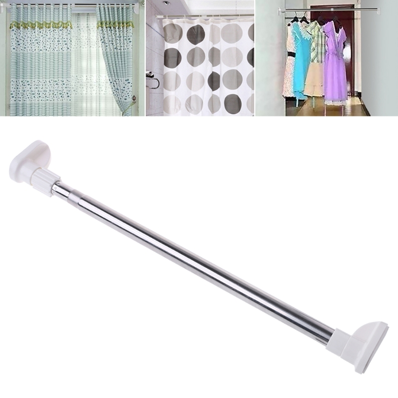 Extendable Telescopic Rods Shower Curtain Poles Clothes Wardrobe Organizer Rack