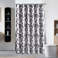 e9260de59eb5d Mosaic Thickened Waterproof Shower Curtain Mildew Proof PVC Hanging Hook  Bath Curtain Privacy Protector Shower Cloth