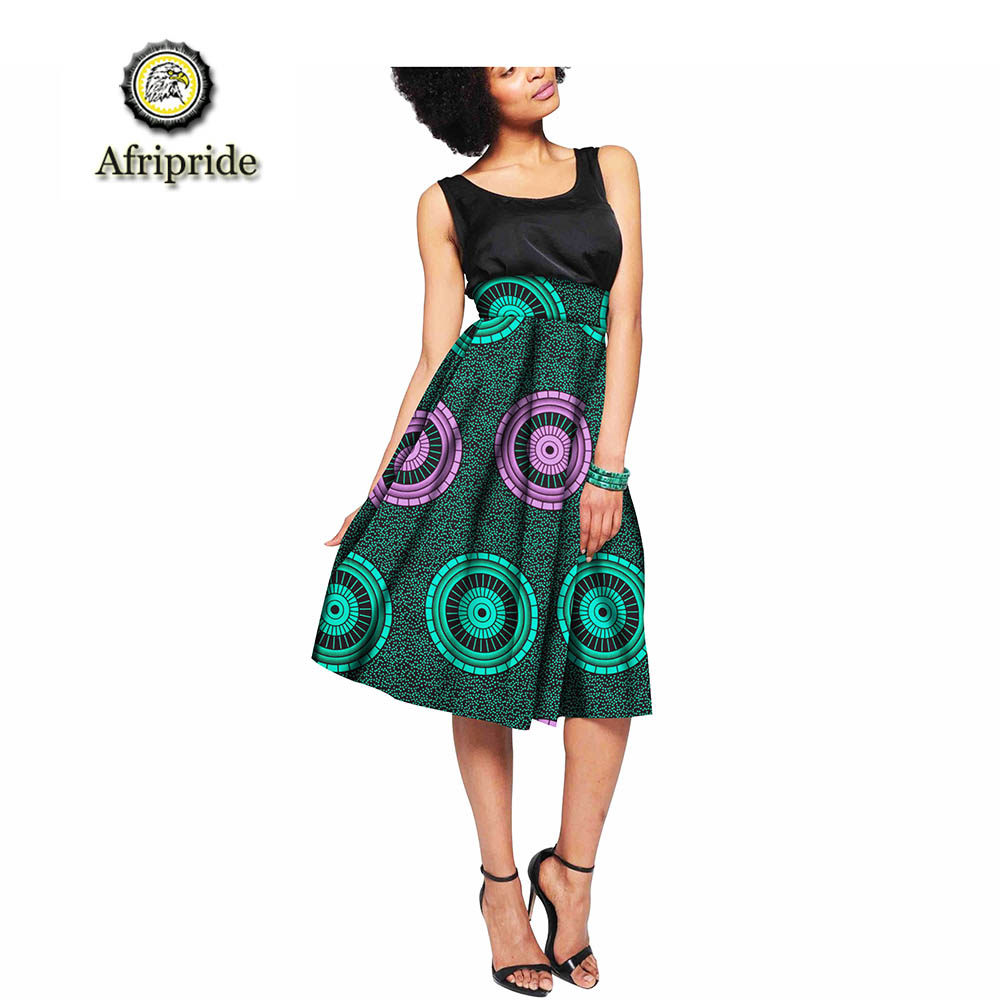 2019 african skirts for women AFRIPRIDE spring amp autumn dashiki bazin riche ankara print private custom pure cotton S1827011 in Skirts from Women 39 s Clothing