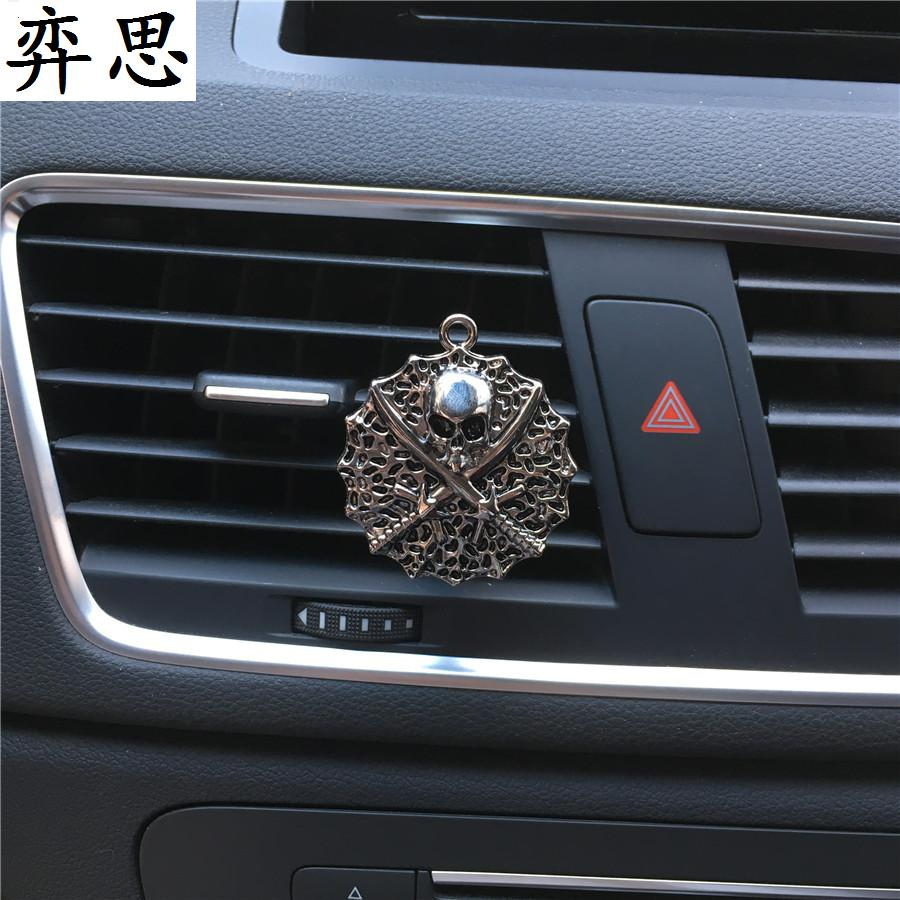 Pirate heads of two swords Car perfume Air Freshener Skull Pirate molding Automobile styling decoration Perfume clip