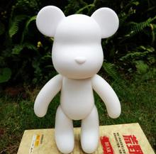 10 inch Vinyl Cartoon Popobe Violence Bear Momo White Mold for DIY Graffiti painted 24cm
