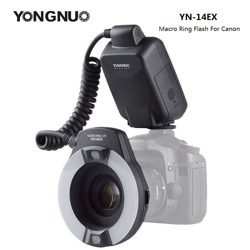 YongNuo YN-14EX YN14EX Speedlite TTL Macro Anel de Flash de Luz com Anel Adaptador para Canon DLSR 550D 650D 5Ds 5Dsr 760D 5D 750D 6D