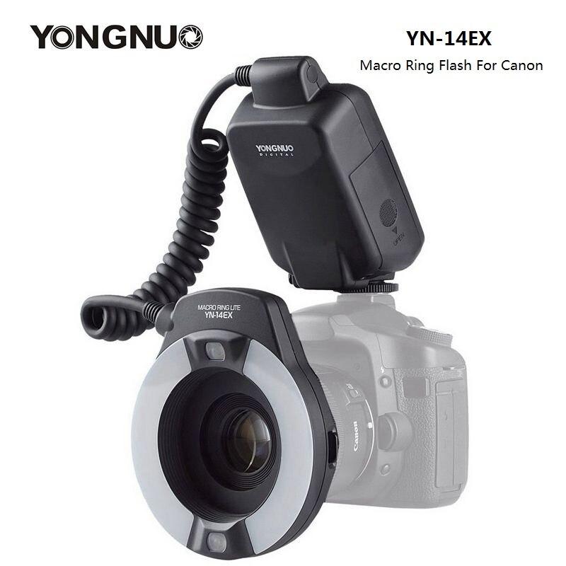 YongNuo YN-14EX YN14EX TTL Macro Ring Lumière Flash avec Adaptateur Anneau Speedlite pour Canon DSLR 550D 650D 5Ds 5Dsr 760D 5D 750D 6D