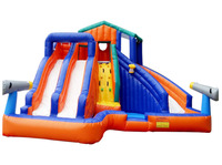 PVC Inflatable Water Slide with Pool jumping bouncer for children with Blower