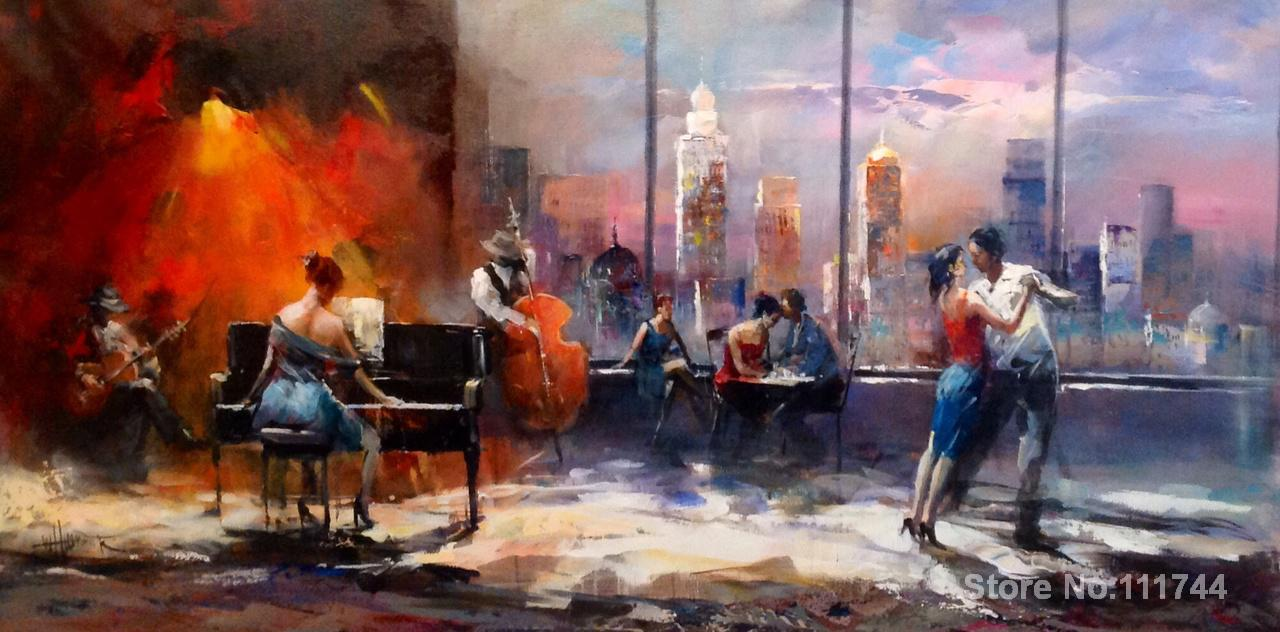 art for living room wall playing music with view on