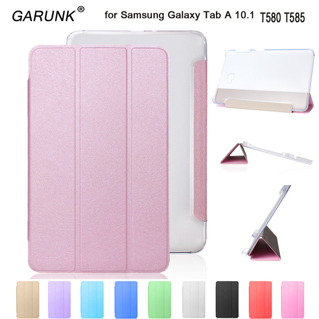 huge discount a8f8c 0d089 Case for Samsung Galaxy Tab A6 10.1 T580 T585, GARUNK Magnetic Folding  Stand Leather Protective Tablet Cover for T580N+Film+Pen