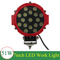 51W Car Cree LED Work Light for Indicators Motorcycle Driving Offroad Boat Car Tractor Truck SUV ATV spot lamp 12V 24V
