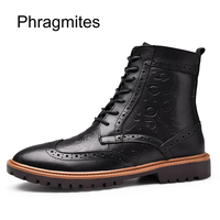 Phragmites classical bullock boots plus size carved ankle boots for women shoes winter keep warm ladies shoes woman boots shoes