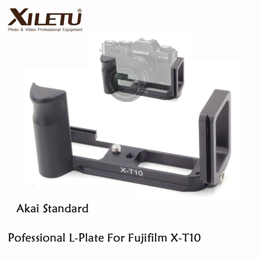 Xiletu LB-XT10 Professional 삼각대 브라켓 후지 필름 X-T10 Arca 스위스 인터페이스 38m 용 빠른 설치 L 플레이트
