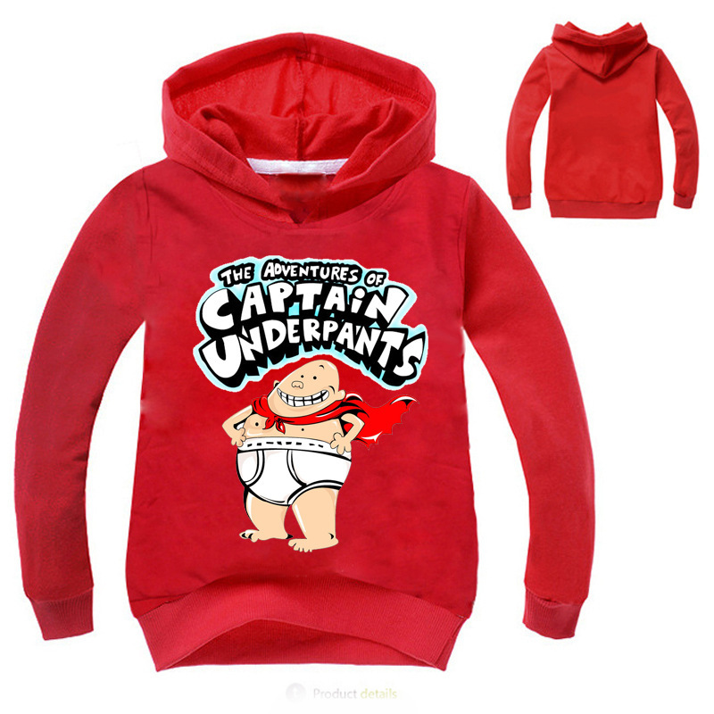 Z&Y 2017 Fall Clothes Girls Captain Underpants Shirt Boys Hoodie Coat Sweatshirt Long Sleeves Baby Jumper Kids Hoodies Fashion