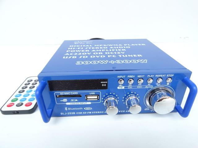 Car / home power amplifier with built-in Bluetooth module support card radio 12V/220V power supply