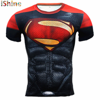 New Fitness Compression Shirt Men Anime Superhero Punisher Skull Captain Americ Superman 3D T Shirt Bodybuilding