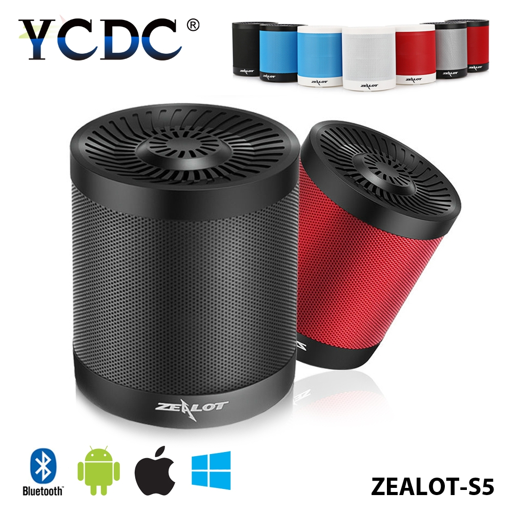 Zealot S5 Portable Bicycle Camping Bluetooth Speaker+Mic Loud Boombox Muilt-Mode For iPod/iPhone/ipad/Samsung 2000mAh Battery