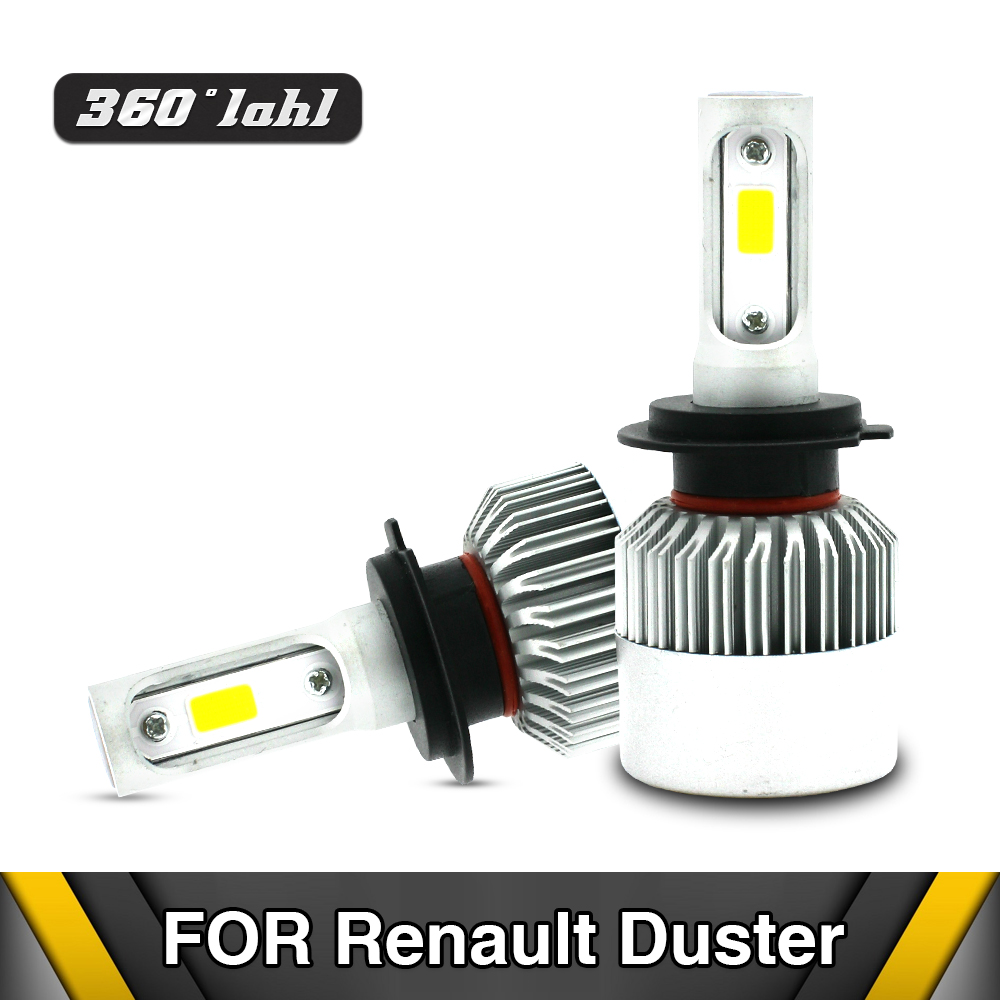 H1 H7 H11 H8 H9 Car LED Light 80W LED Headlight Kit Light Bulbs 8000LM White High Power Auto Fits For Renault Duster 2017-2012