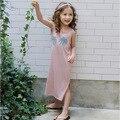 Корейская Девушка Пляж Платье Повседневная Принцесса Длинное Платье Печати Гавайи Летнее Платье Сладкий Одежда