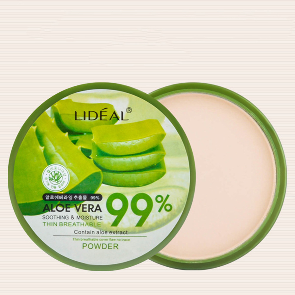 Hot sale Natural Aloe Vera Moisturizing Smooth Foundation Pressed Powder Waterproof Long Lasting Makeup Concealer Pressed Powder image