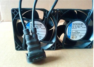 EBMPAPST waterproof fan 3218J / 2NPU 9CM 92X92X38 48V 7.2W 4wires 1pair