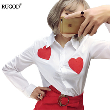 Women Heart Embroidery Plaid blouse Full Cotton Long sleeves shirts Fashion Slim Outwear tops blusas OL Office polo shirt Women