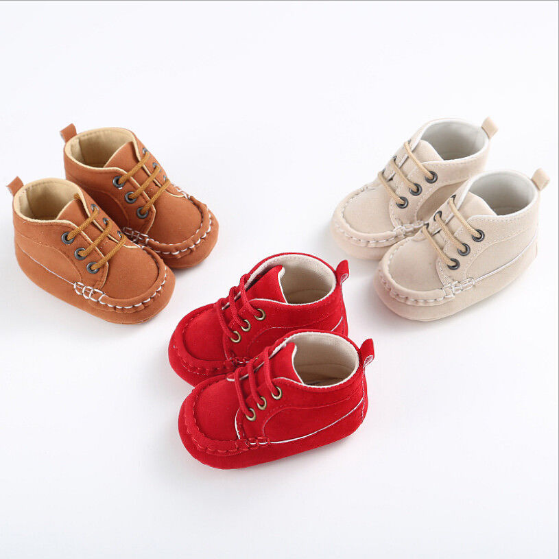 Cute Toddler Newborn Baby Boy Girl Cotton Soft Sole Crib Shoes Sneakers First Prewalker Casual Baby Shoes