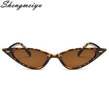 b0e776bb5213 SHENGMEIYU Women Sexy Cat Eye Sunglasses Brand Designer Small Triangle  Vintage