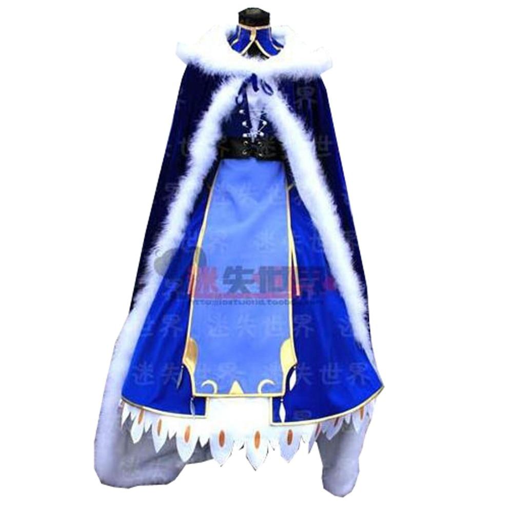 2018 Saber Cosplay Costume Artoria Pendragon Saber Cosplay Fate Stay Night UBW Fate Zero Sword Cosplay Costume With Cloak цена