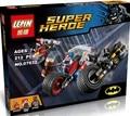 Lepin 07032 super hero poderoso micros deadshot harley reina batman con motocicleta bloques juguetes compatible con